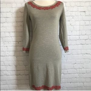 Free People bodycon embroidered dress bodycon